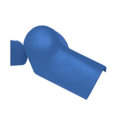 ตราเพชร ครอบปิดจั่วปรับมุม ตัวบน กระเบื้องลอนคู่ ขนาด 19.5x35 ซม. สีฟ้ารุ่งโรจน์