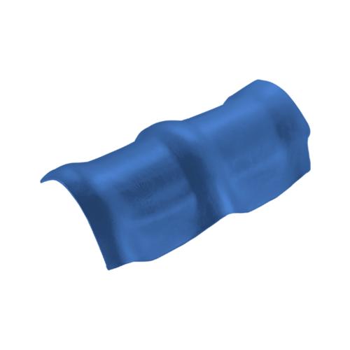 ตราเพชร ครอบสันโค้ง 3 หัว กระเบื้องลอนคู่ ขนาด 26.5x49 ซม. สีฟ้ารุ่งโรจน์