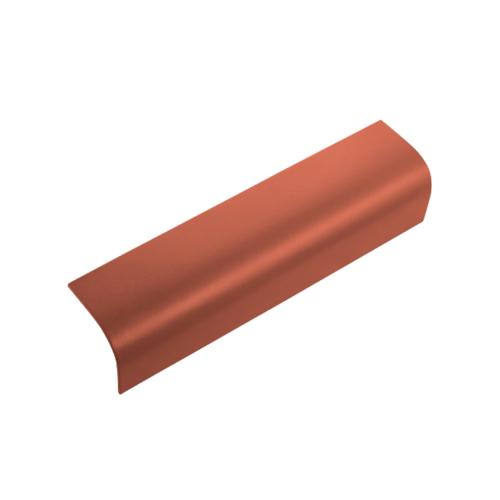 ตราเพชร ครอบข้าง กระเบื้องลอนคู่ ขนาด 19.5x60 ซม. สีส้มทองมังกร