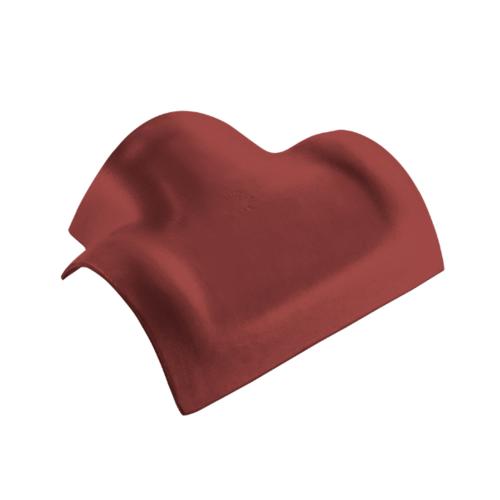 ตราเพชร ครอบสันโค้ง 3 ทาง ตัว T กระเบื้องลอนคู่ ขนาด 36.5x42 ซม. สีแดงมั่งมี