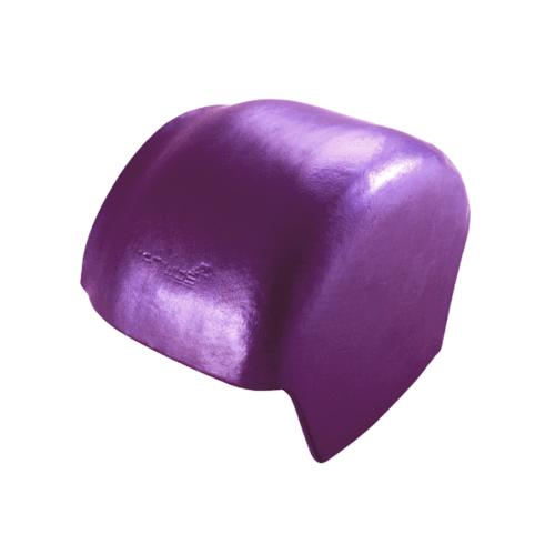 ตราเพชร ครอบปิดจั่ว กระเบื้องจตุลอน ขนาด 21.5x31 ซม สีม่วงประกายเพชร