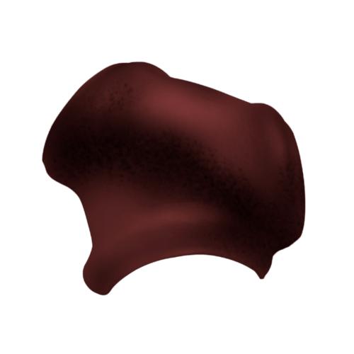 ตราเพชร ครอบ 3 ทาง รูปตัว Y กระเบื้องจตุลอน ขนาด 40.5x45 ซม สีแดงเยอบีร่า