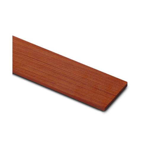 ตราเพชร  ไม้ระแนง แบบลายไม้ขอบตรง   ขนาด 0.8x7.5x300 ซม. สีน้ำตาลเบอร์รี่