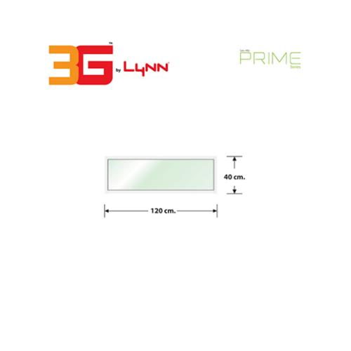 3G หน้าต่างอลูมิเนียมช่องแสงติดตาย (PS) 120x40ซม. PRIME สีขาว