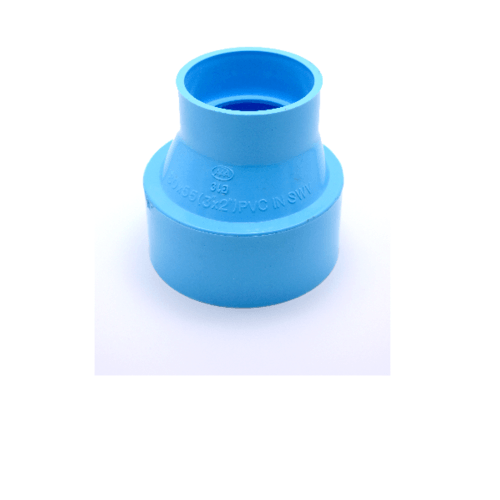AAA ข้อต่อตรงลด  แบบบาง 3นิ้ว X 2นิ้ว (80X55) ชั้น 8.5  สีฟ้า