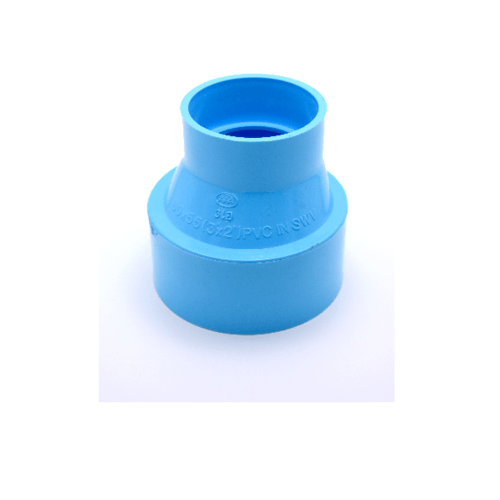 AAA ข้อต่อตรงลด แบบบาง  4นิ้ว X 2นิ้ว (100X55) ชั้น 8.5  สีฟ้า