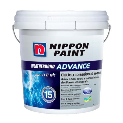 NIPPON  สีน้ำอะคริลิกภายนอกนิปปอน เวทเทอร์บอรด์ แอดวาน เบส บี - สีขาว
