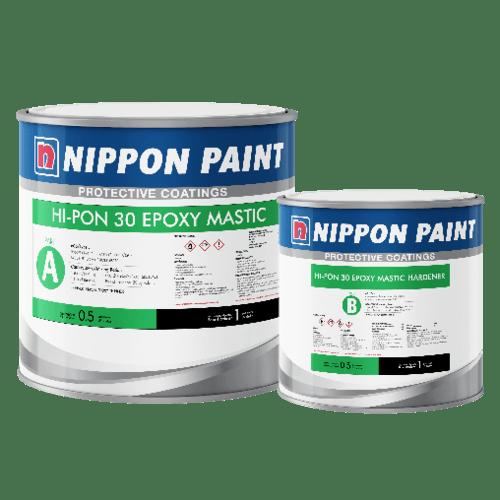 Nippon  สีรองพื้นอีพ็อกซี่ สำหรับทับหน้า ไฮ-ป้อง 30-06 (T) # 0104 สีเทา A