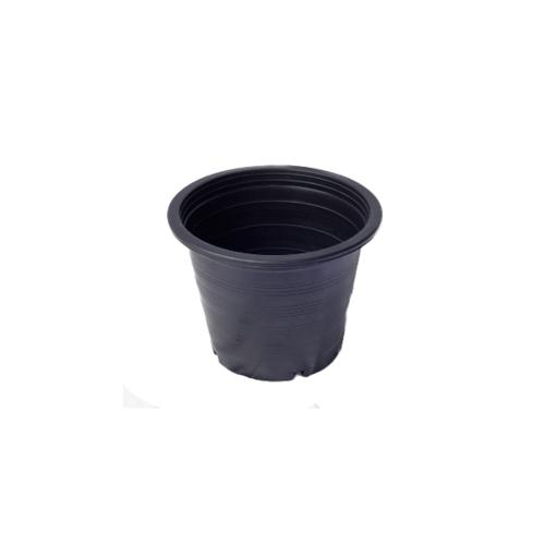 GREENHOUSE กระถางพลาสติกดำ-ปากตรง 4 นิ้ว -