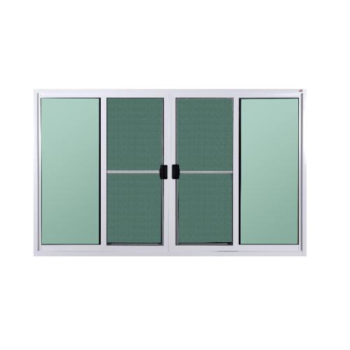 A-Plus  หน้าต่างอลูมิเนียมบานเลื่อน พร้อมมุ้ง 180x150ซม. FSSF PLATINUM  สีขาว
