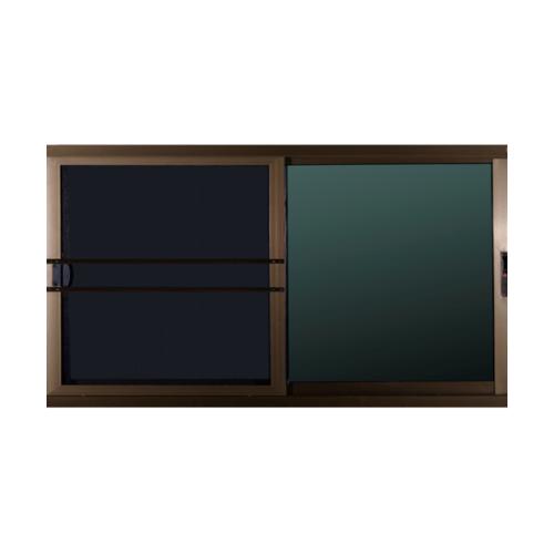 A-Plus หน้าต่างบานเลื่อนสลับ  ขนาด 1.98 m. x 0.88 m. สีชา + มุ้ง