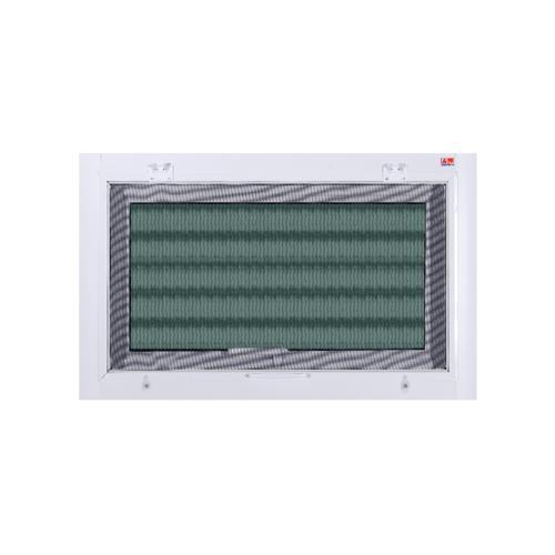 A-Plus หน้าต่างบานกระทุ้ง ขนาด 0.80x0.50m.  A-WO/004+มุ้ง สีขาว