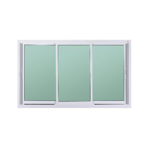 A-Plus หน้าต่างอลูมิเนียมบานเลื่อน SFS ขนาด 1.80 x 1.08 ม.  Like-009  ไม่มีมุ้ง  สีขาว