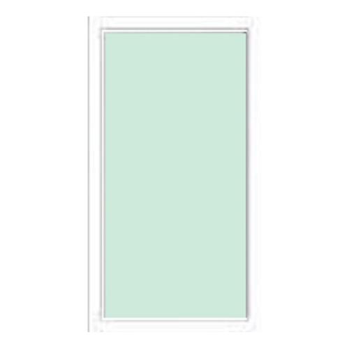 A-Plus ประตูช่องแสงอลูมิเนียม บานติดตาย  115cm.x205cm. PALTINUM สีขาว