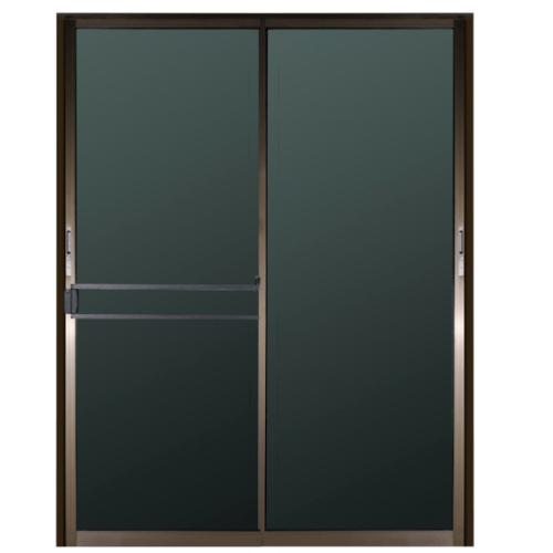 A PLUS ประตูบานเลื่อน อะลูมิเนียม SS  ขนาด 180cm.x185cm. สีชา พร้อมมุ้ง