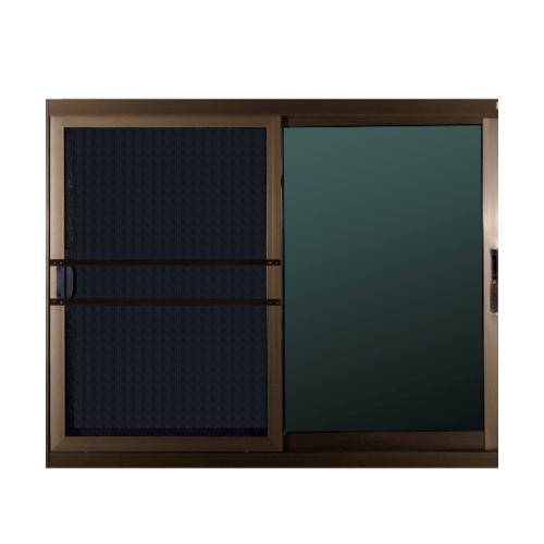 A-Plus หน้าต่างบานเลื่อนสลับ ขนาด 1.60 m.x 1.20 m. สีชา (มีมุ้ง)