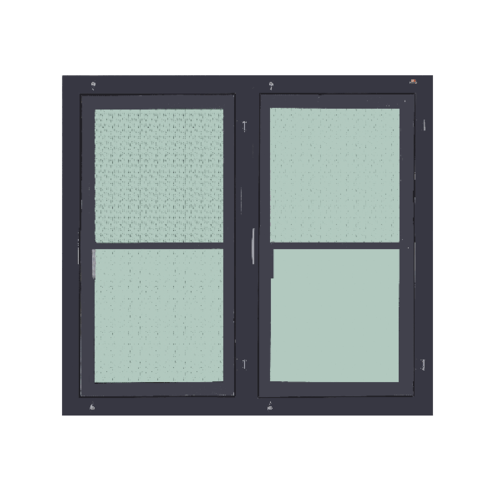 A-Plus หน้าต่างอะลูมิเนียมบานเปิดคู่  100x120ซม.  พร้อมมุ้ง SAHARA