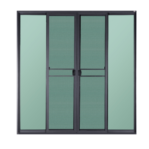 A-Plus ประตูอะลูมิเนียมบานเลื่อน FSSF  ขนาด 260x280ซม.  SAHARA พร้อมมุ้ง