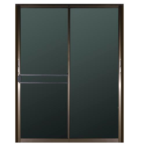 A-Plus ประตูอลูมิเนียมบานเลื่อน ขนาด 2.00 m. x 2.04 m. สีชา + มุ้ง  Like /025