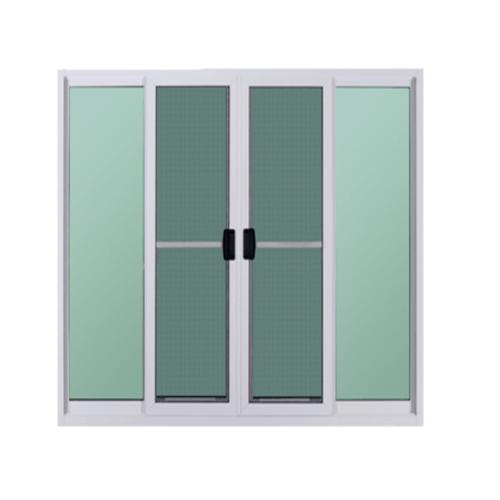 A-Plus ประตูบานเลื่อนเปิดกลาง2.094 m. x2.084 m. Platinum สีขาว