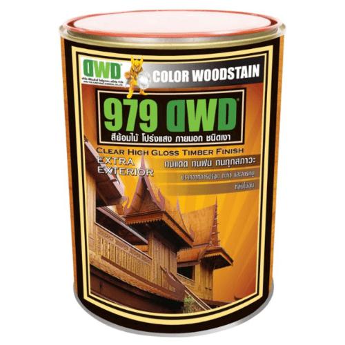 DWD สีย้อมไม้ ชนิดเงา (3.785ลิตร) 979DWD 106EX สีไม้มะค่า