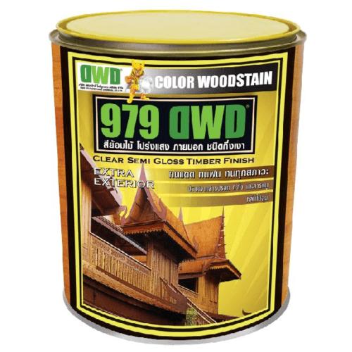 DWD สีย้อมไม้ ชนิดกึ่งเงา (3.785ลิตร) 979DWD  509EX สีไม้โอ๊ค
