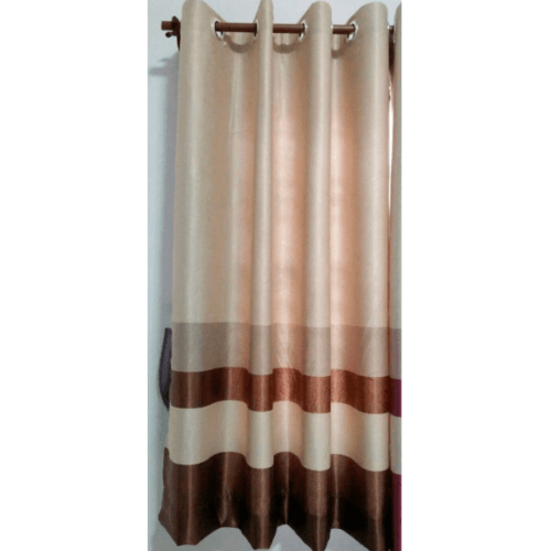 Davinci ผ้าม่านหน้าต่าง ขนาด (150 x 160 ซม.) R3904-7 สีครีม-น้ำตาลเข้ม