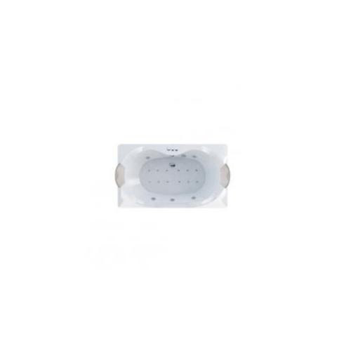 MOGEN ยูนิฟาย อ่างอาบน้ำวน-อัดอากาศ พร้อมสะดืออ่างอาบน้ำ (แบบฝัง)    MB25A  สีขาว