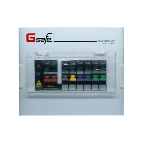 G-Safe ตู้คอนซูเมอร์สำเร็จ  G safe-C6/ 6ช่อง 63A  สีขาว