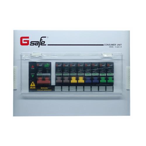 Gsafe ตู้คอนซูเมอร์สำเร็จ G safe-C8/8ช่อง 63A C8 ขาว