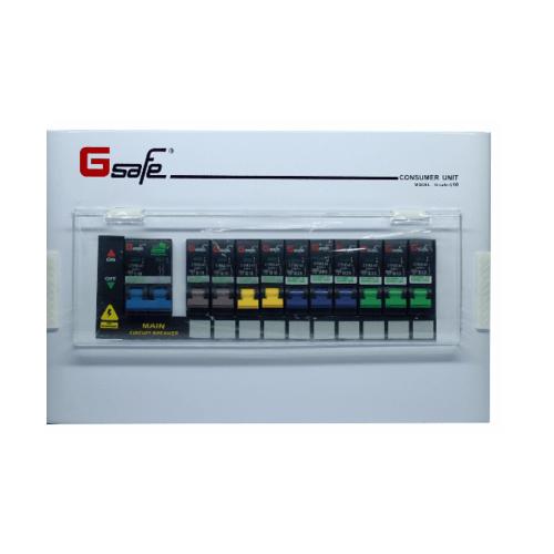 Gsafe ตู้คอนซูเมอร์สำเร็จ G safe-C10/10ช่อง 50A C10 ขาว