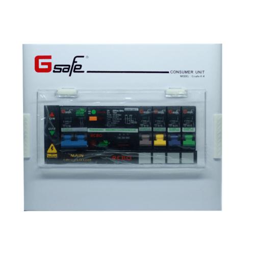 G-Safe ตู้คอนซูเมอร์สำเร็จครบชุด G safe-R4/4ช่อง50A กันดูด CTM-R4/4 slot 50A G-safe สีขาว