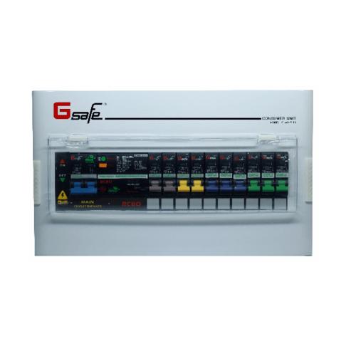 Gsafe ตู้คอนซูเมอร์สำเร็จครบชุด G safe-R10/10ช่อง 50A กันดูด R10 ขาว