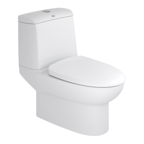 American Standard สุขภัณฑ์สองชิ้น มิลาโน 3/4.2L พร้อมฝารองนั่งปิดนุ่มนวล  2327SC-WT-0 สีขาว