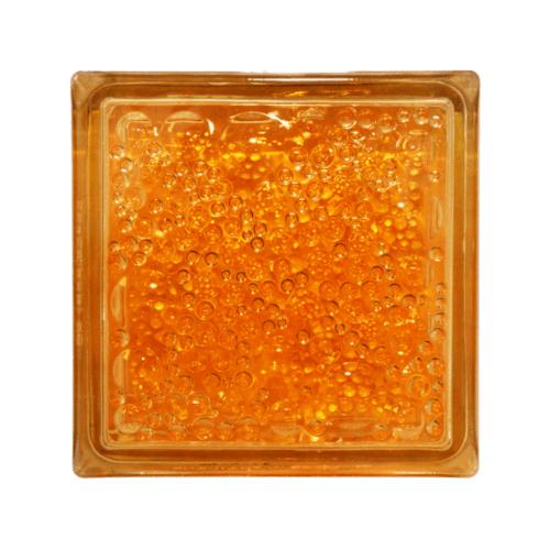 ช้างแก้ว บล็อกแก้วสี  ฟองแก้ว N-008/942 สีส้ม