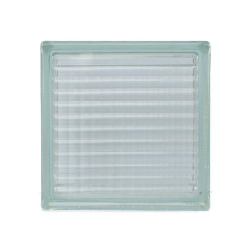 ช้างแก้ว บล็อกแก้วใส 190 x 190 x 80 mm ประกายแก้ว