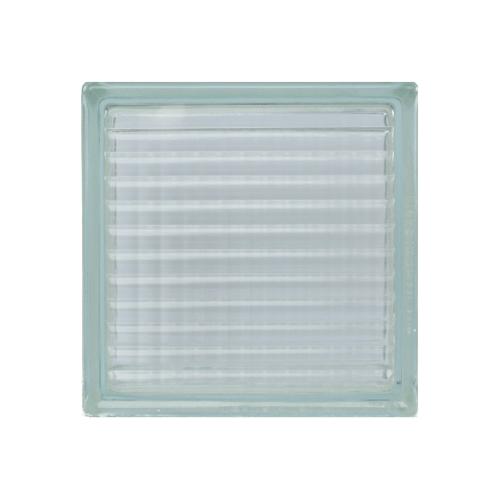 ช้างแก้ว บล็อกแก้วใส 190 x 190 x 100 mm ประกายแก้ว N-001/01