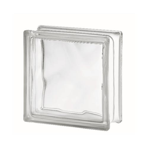ช้างแก้ว บล็อกแก้วใส แก้วเมฆา(190x190x80 mm)  I-018A.