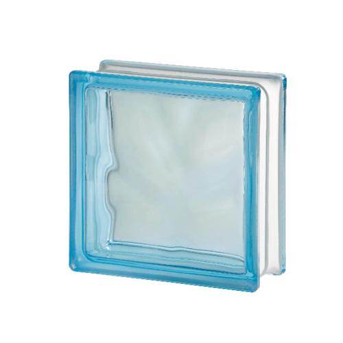 ช้างแก้ว บล็อกแก้วสี แก้วเมฆา I-018/201 สีฟ้า