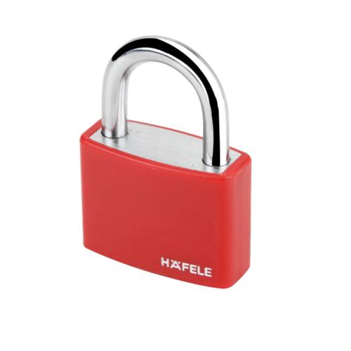 HAFELE กุญแจล็อคสายยู รุ่น T65AL/40 ขนาด 40 มม.สีแดง 482.01.851 482.01.851 สีแดง