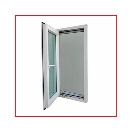 RKT หน้าต่างบานเปิดไวนิล  ขนาด 50x150 ซม.  กระจกสีเขียวใส  สีขาว