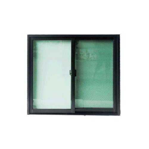Wellingtan หน้าต่างไวนิลบานเลื่อน 100cm.x110cm. พร้อมมุ้ง  SS WELL สีดำ