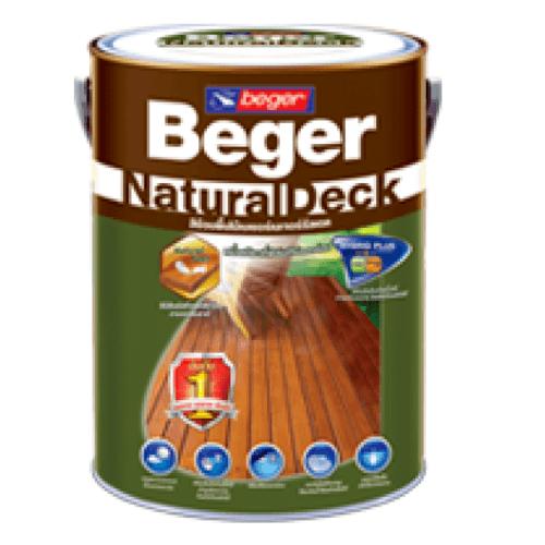 Beger สีย้อมไม้เบเยอร์ เนเจอร์รัลเดค  สีไม้สัก  X-8103