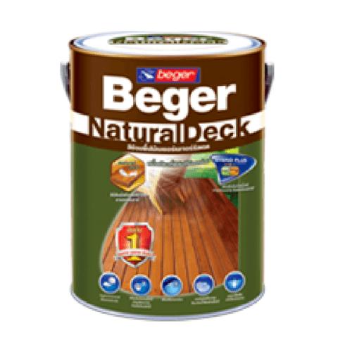 Beger สีย้อมพื้นไม้ชนิดเนียนด้าน เนเจอร์รัลเดค X-8103 (TEAK/สีไม้สัก) เนเจอร์รัลเดค X-8103 (TEAK/สีไม้สัก)