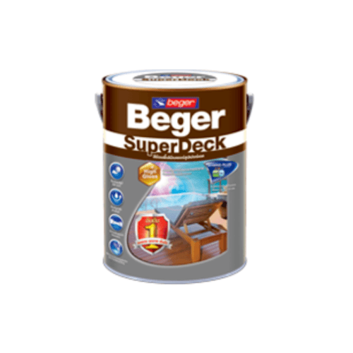 Beger สีย้อมพื้นไม้ชนิดเงา ซุปเปอร์เดค G-8803 (TEAK/สีไม้สัก) ซุปเปอร์เดค G-8803 (TEAK/สีไม้สัก)