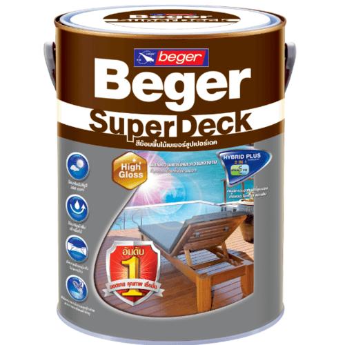 BEGER สีย้อมพื้นไม้ชนิดด้าน ซุปเปอร์เดค ขนาด 1 กล. M-8810 สีไม้วอลนัท