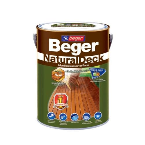 Beger สีย้อมพื้นไม้ชนิดเนียนด้าน เนเจอร์รัลเดค X-8104 (AFROMOSIA/สีไม้ประดู่) X-8104 (AFROMOSIA/สีไม้ประดู่)