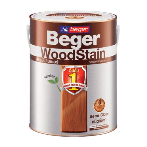 Beger สีย้อมไม้ชนิดกึ่งเงา วูดสเตน  S-2909  1/4gl. (สีไม้มะฮอกกานี)