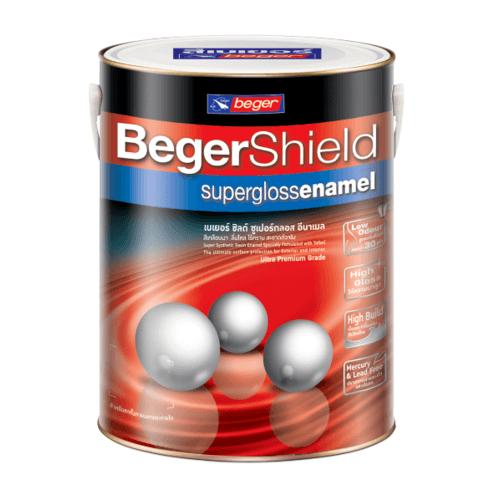 Beger สีน้ำมันเคลือบเงา เบส D  Shield (NEW) กป. Shield (NEW) กป.
