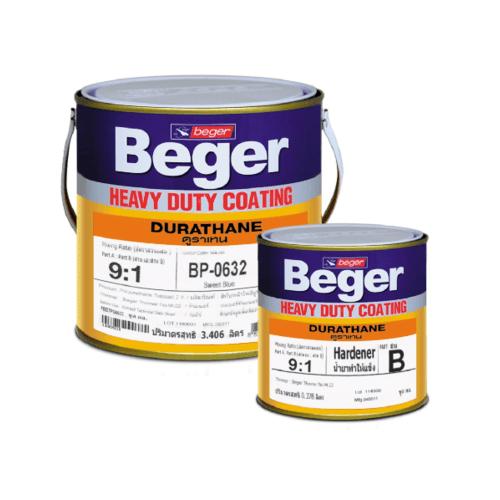 Beger สีทาทับหน้าภายนอก ดูราเทน  กล.  BP-0000 สีขาว